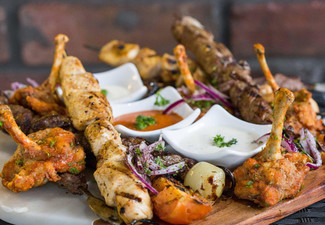 Ultimate Mediterranean Shared Dining Mixed Chargrill Platter or Exclusive Vegetarian for Two People - Options for up to Six People