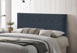 Bluish-Grey Freddy Headboard - Three Sizes Available