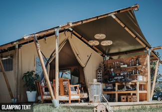 Romantic Two-Night Escape to Pakiri Beach for Two People - Experience the Riverfront Glamping Tent or Beachfront Luxury Lodge