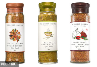 Three-Pack of Gourmet Spice Blend Collection Range - 10 Options Available