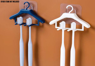 Hanger-Shaped Toothbrush Holder - Two Colours Available