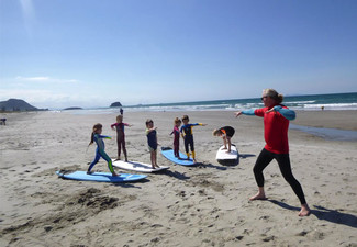Two-Hour Beginner Surf Lesson incl. Board, Wetsuit Hire & Return Voucher for One-Hour Surf Gear Hire for the Next Visit - Option for Two People