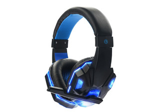 Blue LED Stereo Gaming Headset with Microphone