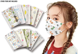 10-Pack of Techno TotalSafe Printed Face Masks for Kids - Option for 30-Pack or 50-Pack