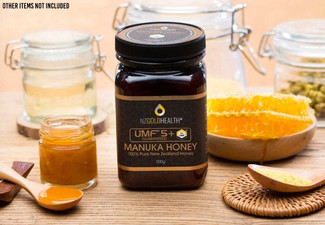 NZ Goldhealth 100% Natural Manuka Honey UMF 5+ 500g - Options for up to Ten Jars with Free Delivery