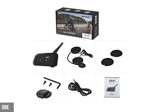 Helmet Bluetooth Intercom Headset - Option for Two with Free Delivery