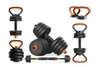 Six-in-One Multifunctional Dumbbell Weights Set - Three Weights Available