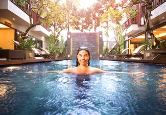 Per-Person, Twin-Share Five-Night Bali Getaway incl. International Flights, Seminyak Accommodation, Daily Breakfast, Massage, Beer Bucket & Welcome Drink