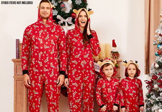 Christmas Red Reindeer Onesie Family Range - 21 Sizes Available with Free Delivery