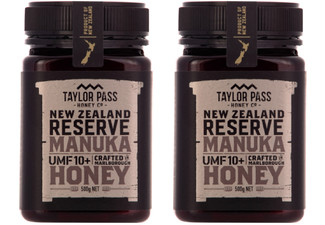 Two-Pack of Taylor Pass Honey Co Reserve Manuka Honey UMF10+ 500g