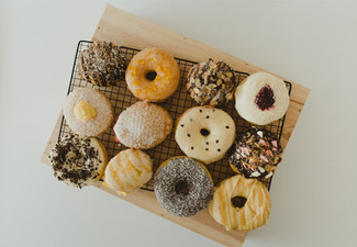Box of Six Original Sweet Vanilla Glazed Donuts - Option for Six Unique DIY Flavours or 12 Original Sweet Vanilla Glazed Donuts