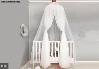 Kids Bed Canopy Curtain - Four Colours Available