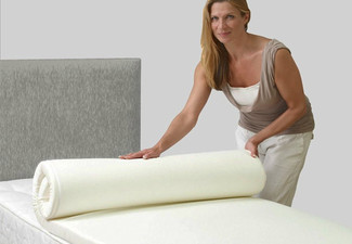 Dreamweaver Memory Foam Mattress Topper - 3cm or 5cm Thickness Options & Six Sizes Available