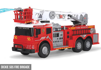Dickie SOS Fire Brigade or Giant Recycling Truck