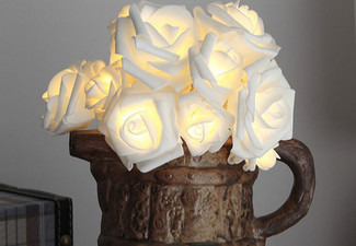 20 LED Rose Fairy Light - Two Colours Available & Option for Two
