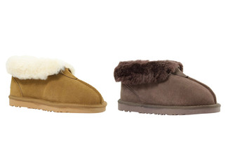 Auzland Unisex 'Abel' Classic Australian Sheepskin UGG Slippers - Two Colours & 10 Sizes Available