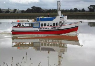 Five-Hour Kaipara River & Harbour Boat Cruise to Shelly Beach Return Pass for One Adult - Options for Two Adults, a Child, or Family Pass - Valid from 15th November