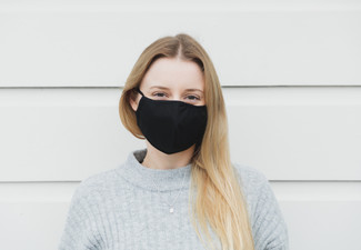Four-Layer Reusable Black Cotton Face Mask - Option for Two or Three Masks