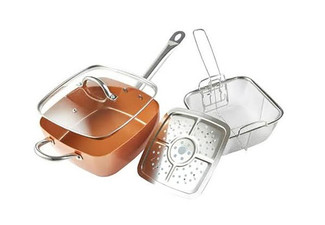 Square Copper Cooking Pan