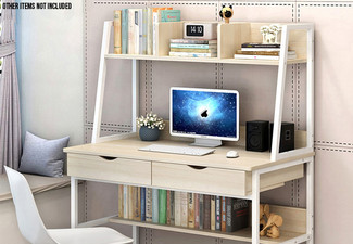 Desk with Top Shelf - Two Colours Available