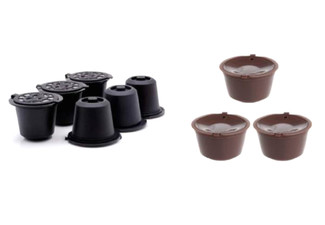 Eco 3-Pack of Reusable Coffee Capsules Compatible with Nescafe - Option for 6-Pack or 12-Pack, & Packs Compatible with Nespresso Available