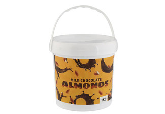 1kg Party Bucket of Milk Chocolate Almonds