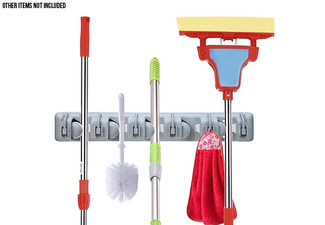 Broom & Mop Wall Mount Holder