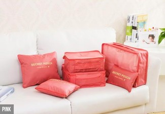 Six-Piece Storage Bag Set - Two Colours Available & Option for Two