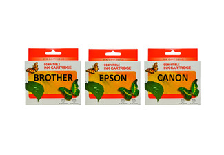 $27 for Five Ink Cartridges Compatible with Epson, Brother or Canon Printers, or $39 for a Set of Premium Ink Cartridges incl. Hewlett Packard Printers, with Free Shipping (value up to $109)