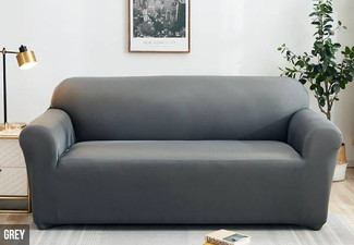 Solid Colour Sofa Cover - Two Colours & Three Sizes Available