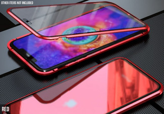Clear Tempered Glass Magnetic Case Compatible with iPhone 11 Series - Three Colours & Three Options Available