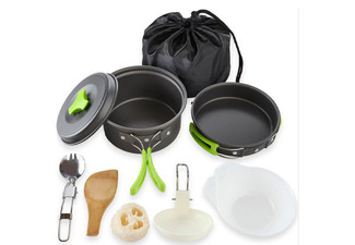 Outdoor Cookware Set - Four Colours Available