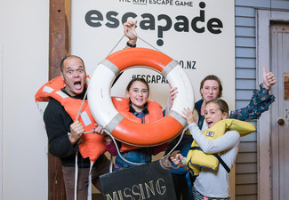 Entry to New Zealand's Number One Escape Room - Options for up to Six People & Family of Four, Five or Six