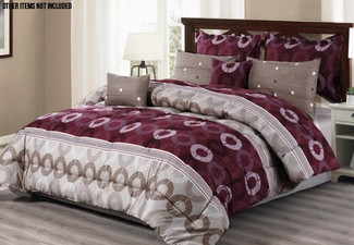 Seven-Piece Circle Pattern Comforter Set - Three Sizes Available
