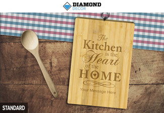$39 for a Personalised Bamboo Chopping Board or $55 for a Premium Personalised Chopping Board - 50 Templates Available