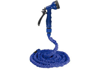 Expandable 22.5m Garden Hose & Spray Nozzle