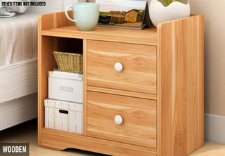 Bedside Table with Drawers - Two Colours Available