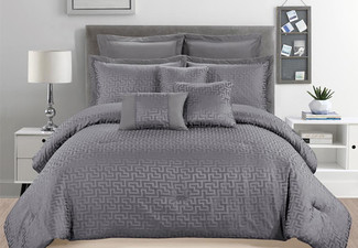 Eight-Piece Comforter Set - Three Sizes Available
