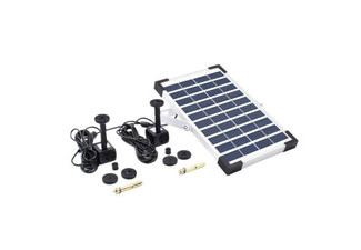 10V 5W Solar Powered Fountain Double Water Pump