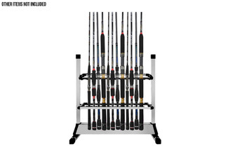 24-Slot Fishing Rod Rack Holder