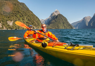 4.5-Hour Milford Sound Sea Kayaking Experience for One Person - Options for 4-Hour Sea Kayak & Milford Sound Cruise & for up to Four People