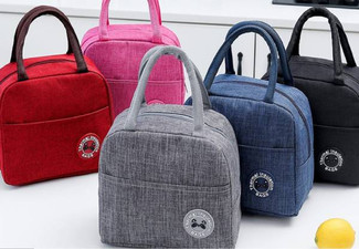 Waterproof Portable Lunch Bag - Five Colours Available & Option for Two