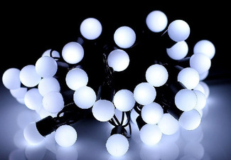 30 LED Solar Frosted Ball Fairy Lights