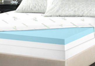 Memory Foam Topper Dual 8cm - Two Sizes Available