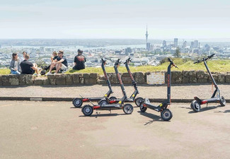 Auckland City Guided Sea to Summit Electric Scooter Tour for Two People - Options for Coast to Coast Tour & for Four People