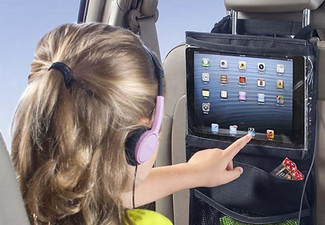 $19.90 for a Car Headrest Tablet Holder and Back Seat Organiser Pack