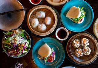 Asian Inspired Banquet for Two incl. Any Two Bao, Dumplings, A Small Sharing Plate & Two House Beverages