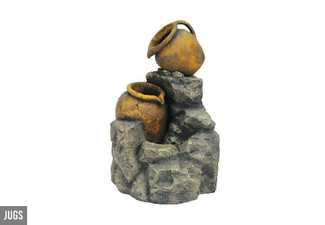 Jugs Garden Fountain - Option for Three-Tier Rectangle Garden Fountain