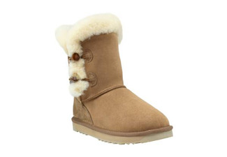 Two Button 'Shark' Memory Foam UGG Boots - Eight Sizes Available
