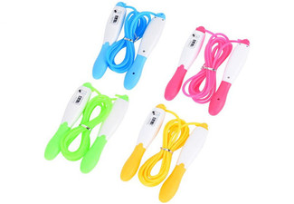 Skipping Rope with Jump Counter - Four Colours Available